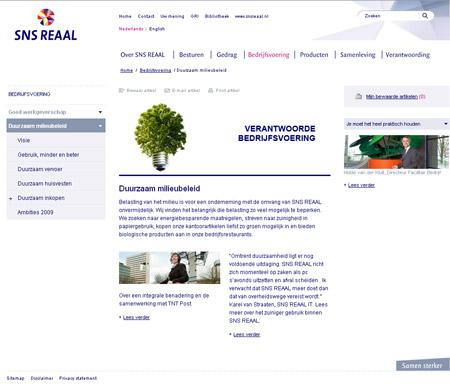 screenshot duurzaam milieubeleid