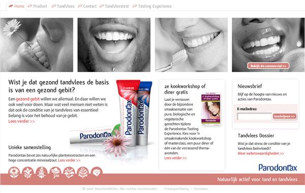 parodontax.nl homepage