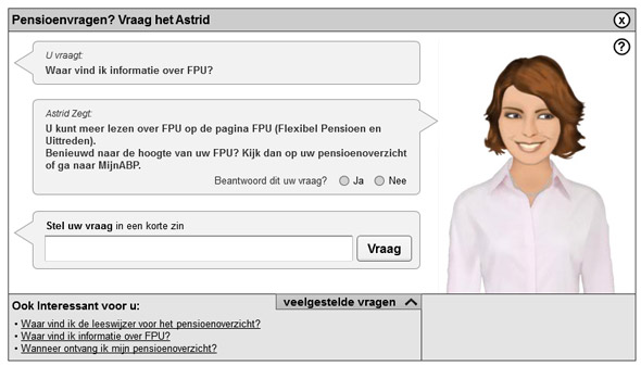 ABP Virtual Assistant Astrid FAQ